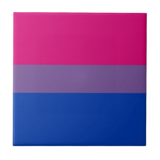 Bi Flag Flies For Bisexual Pride Ceramic Tile