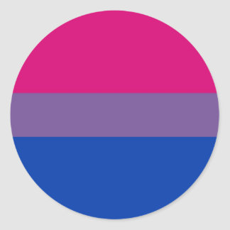 Bi Flag Flies For Bisexual Pride Classic Round Sticker
