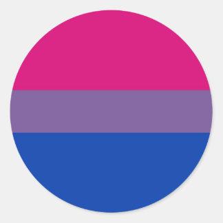 Bi Flag Flies For Bisexual Pride Classic Round Sticker