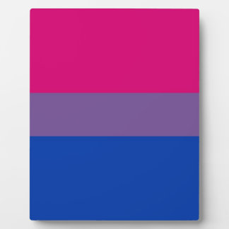 Bi Flag Flies For Bisexual Pride Plaque