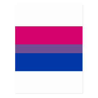 Bi Flag Flies For Bisexual Pride Postcard