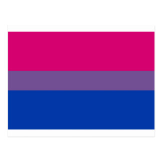 Bi Flag Flies For Bisexual Pride Postcard