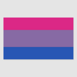 Bi Flag Flies For Bisexual Pride Rectangular Sticker