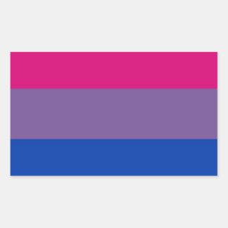 Bi Flag Flies For Bisexual Pride Rectangular Sticker