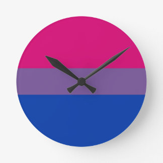 Bi Flag Flies For Bisexual Pride Round Clock