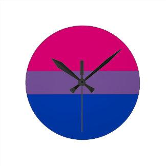 Bi Flag Flies For Bisexual Pride Round Clock