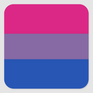 Bi Flag Flies For Bisexual Pride Square Sticker