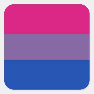 Bi Flag Flies For Bisexual Pride Square Sticker