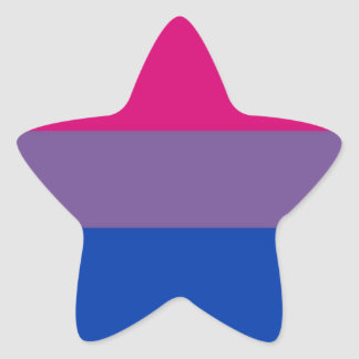 Bi Flag Flies For Bisexual Pride Star Sticker