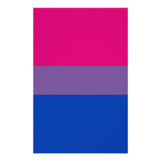 Bi Flag Flies For Bisexual Pride Stationery