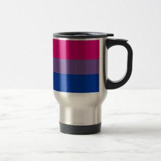 Bi Flag Flies For Bisexual Pride Travel Mug