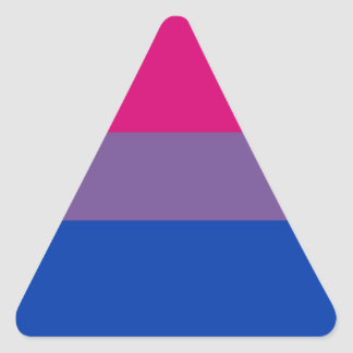 Bi Flag Flies For Bisexual Pride Triangle Sticker