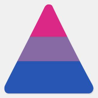 Bi Flag Flies For Bisexual Pride Triangle Sticker