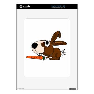 BI- Funny Bunny Rabbit and Carrot iPad Skins