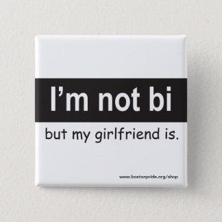 Bi Girlfriend Square Button