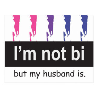 Bi Husband Postcard
