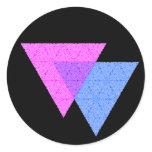 Bi Knot Symbol Round Black Sticker