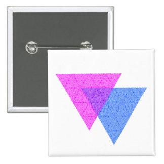 Bi Knot Symbol Square White Button