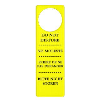 BI-LINGUAL DO NOT DISTURB door hanger