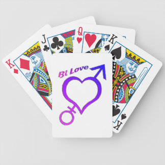Bi Love Heart and arrow symbols Bicycle Card Decks