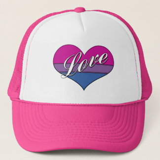 Bi Love Heart Trucker Hat