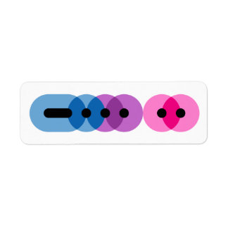 Bi Morse Code Bar Label