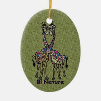 Bi Nature Bi Pride Spot Giraffes Ceramic Ornament