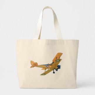Bi-Plane, Airplane, Yellow on Tote