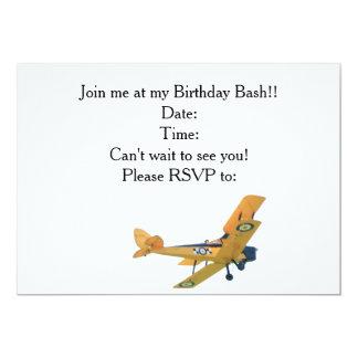 Bi-plane Birthday invitation