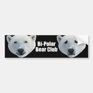 Bi Polar Bear Club bumper sticker