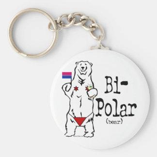 Bi-Polar Bear Keychain