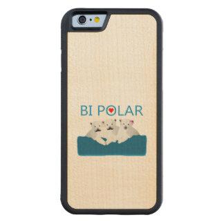 Bi Polar Bears Carved® Maple iPhone 6 Bumper Case