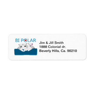 Bi Polar Bears Label