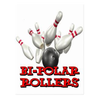 Bi-Polar Rollers Postcard