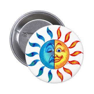 Bi Polar Solar 2 Inch Round Button