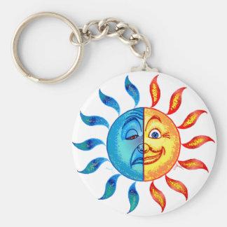 Bi Polar Solar Basic Round Button Keychain