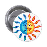 Bi Polar Solar Pinback Buttons