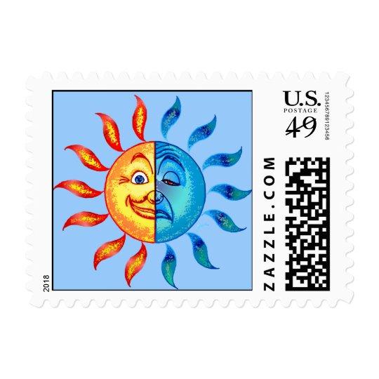 Bi Polar Solar Sad Day Postage