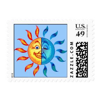 Bi Polar Solar Sad Day Stamp