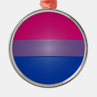 Bi Pride Colors Highlight Metal Ornament