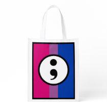Bi Pride/SemiColon Grocery Bag