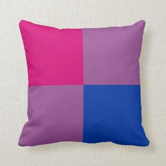 Bi-Pride Squares Pillow