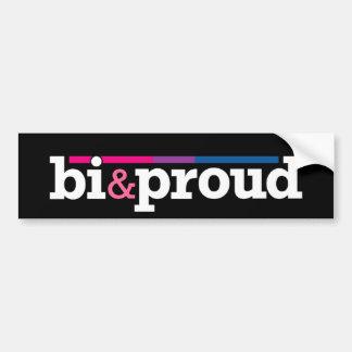 Bi&proud Black Bumper Sticker