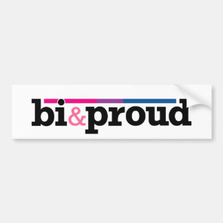 Bi&proud White Bumper Sticker