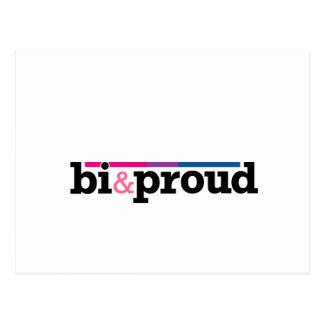Bi&proud White Postcard