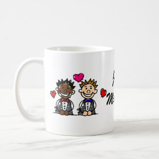 Bi-Racial Gay Couple Coffee Mug