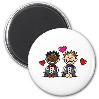 Bi-Racial Gay Couple Magnet