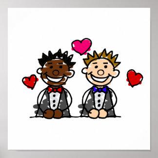 Bi-Racial Gay Couple Poster