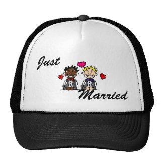 Bi-Racial Gay Grooms Trucker Hat