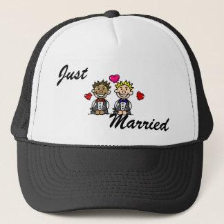 Bi-Racial Grooms Trucker Hat